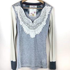 Anthro | Scrapbook Long Sleeve Wing Shirt
